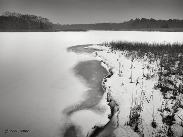 mid winter, alewife pond