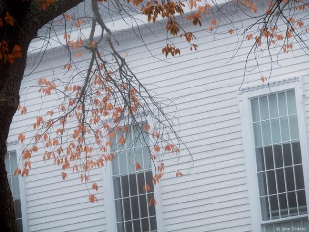 autumn windows - old whaler's church