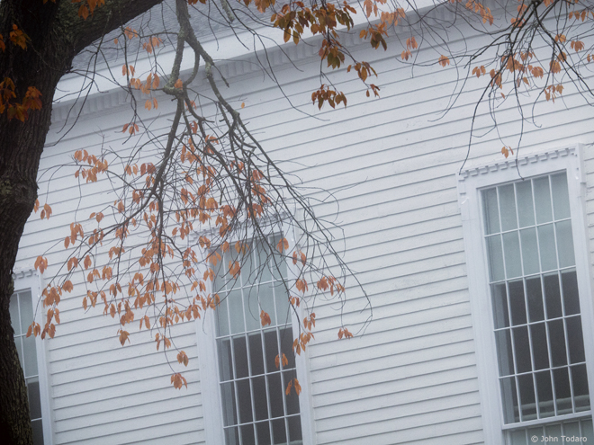 autumn windows - old whaler's church